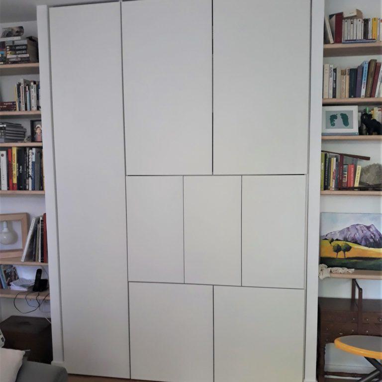 Création d'un meuble TV sur mesure.